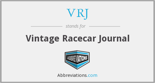 VRJ - Vintage Racecar Journal