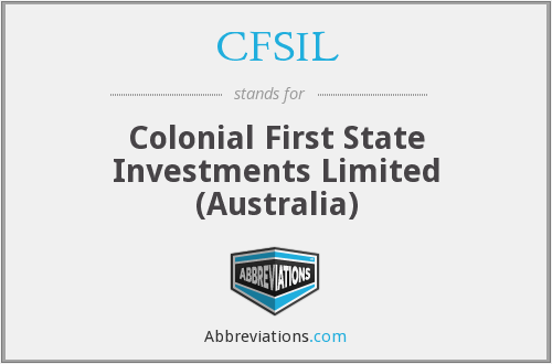 What does CFSIL stand for?
