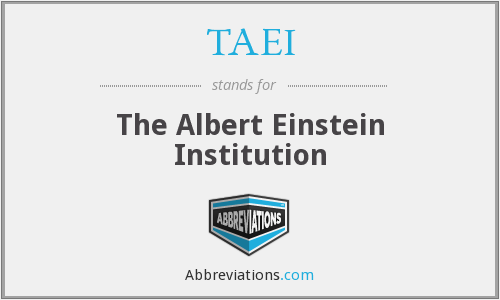 TAEI - The Albert Einstein Institution