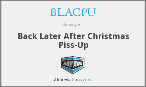 What does BLACPU stand for?