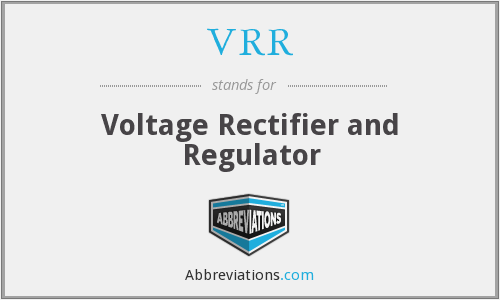 VRR - Voltage Rectifier and Regulator