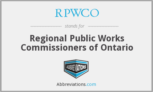 RPWCO - Regional Public Works Commissioners of Ontario