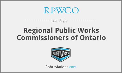 RPWCO - Regional Public Works Commissioners of Ontario