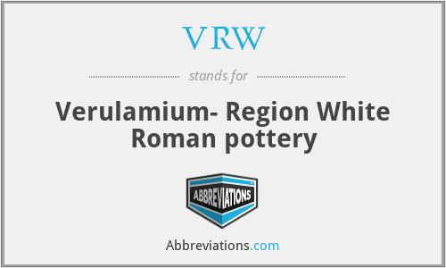 VRW - Verulamium- Region White Roman pottery