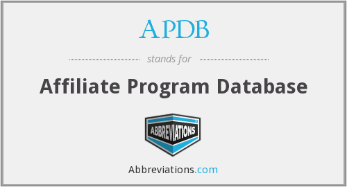 What does APDB stand for?
