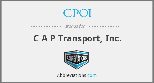 CPOI - C A P Transport, Inc.