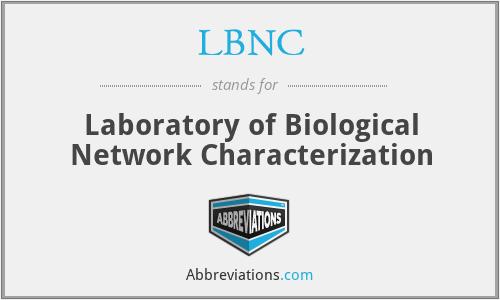 LBNC - Laboratory of Biological Network Characterization