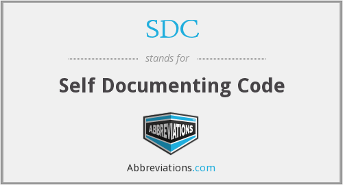 SDC - Self Documenting Code