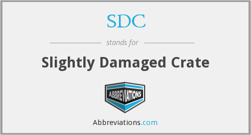 SDC - Slightly Damaged Crate
