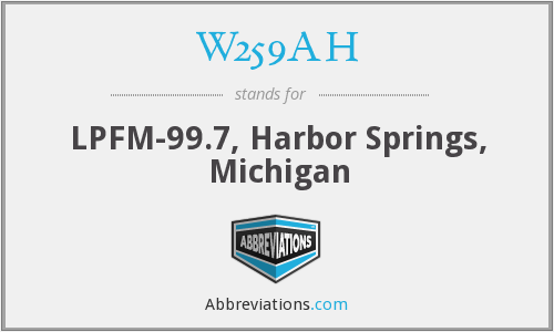 W259AH - LPFM-99.7, Harbor Springs, Michigan