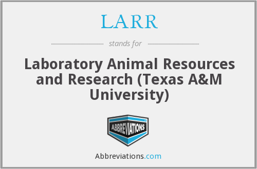 What does LARR stand for?