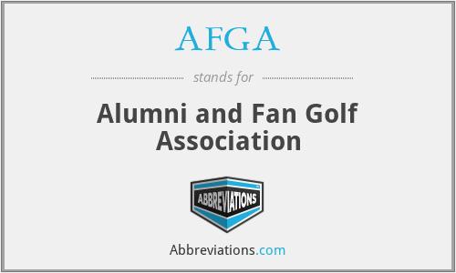 AFGA - Alumni and Fan Golf Association