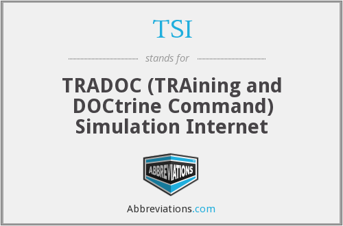 TSI - TRADOC Simulation Internet