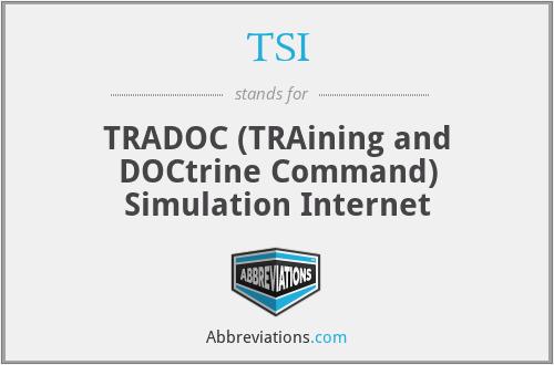 TSI - TRADOC (TRAining and DOCtrine Command) Simulation Internet