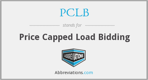 PCLB - Price Capped Load Bidding
