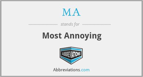 MA - Most Annoying