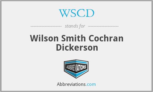 WSCD - Wilson Smith Cochran Dickerson