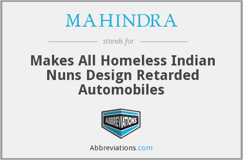 What does MAHINDRA stand for?