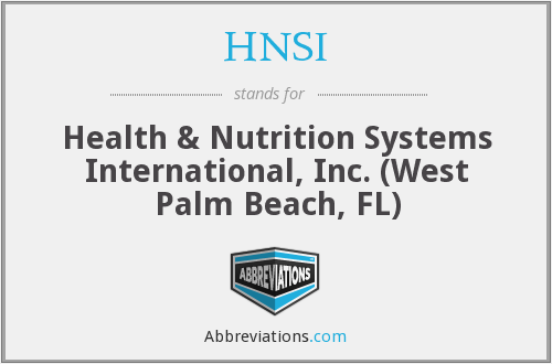 What does HNSI stand for?