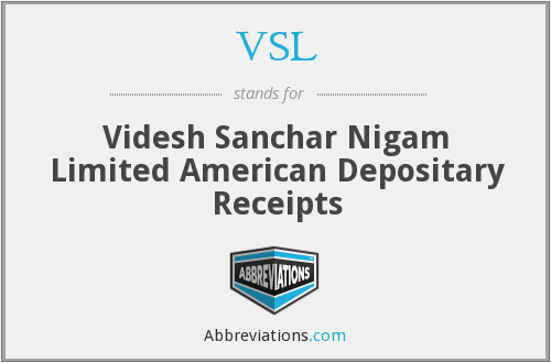 VSL - Videsh Sanchar Nigam Limited American Depositary Receipts