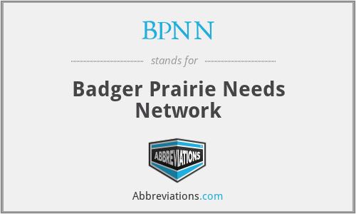 BPNN - Badger Prairie Needs Network