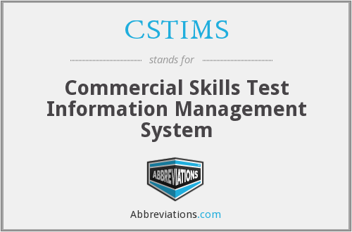 What does CSTIMS stand for?