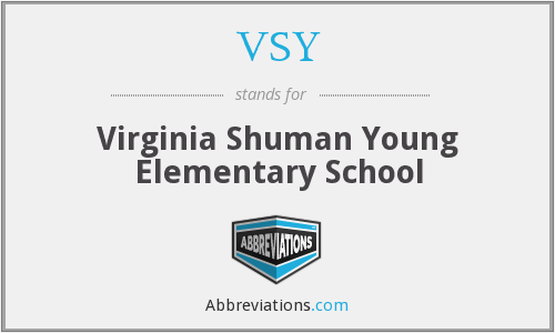 VSY - Virginia Shuman Young Elementary School