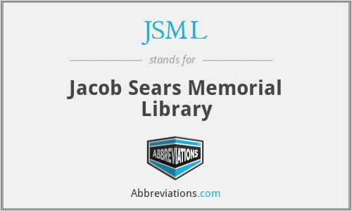 JSML - Jacob Sears Memorial Library