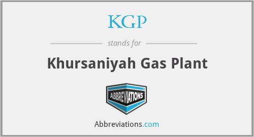 KGP - Khursaniyah Gas Plant