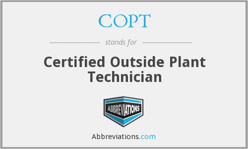 COPT - Certified Outside Plant Technician