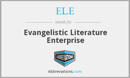 ELE - Evangelistic Literature Enterprise