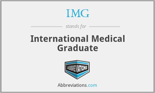 IMG - International Medical Graduate