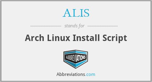 ALIS - Arch Linux Install Script