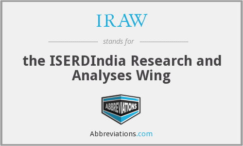 What does IRAW stand for?