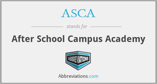 ASCA - After School Campus Academy
