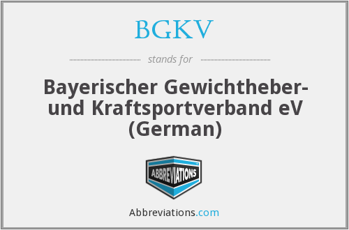 What does BGKV stand for?