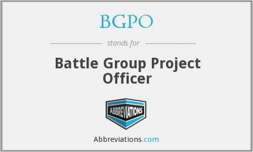 What does BGPO stand for?