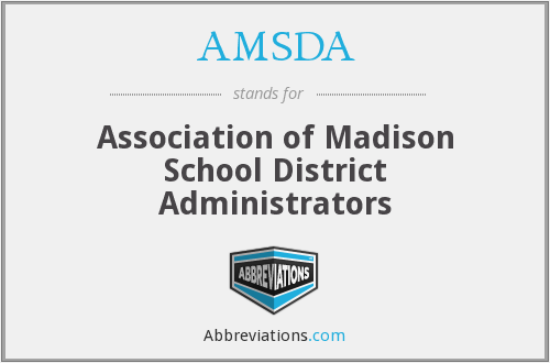 What does AMSDA stand for?