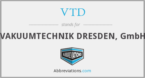 What does VTD stand for?