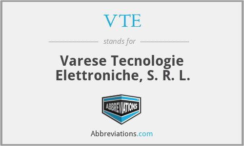 VTE - Varese Tecnologie Elettroniche, S. R. L.