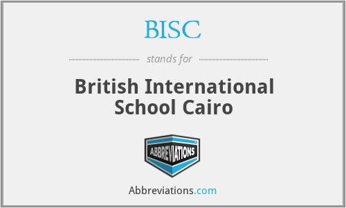 BISC - British International School Cairo