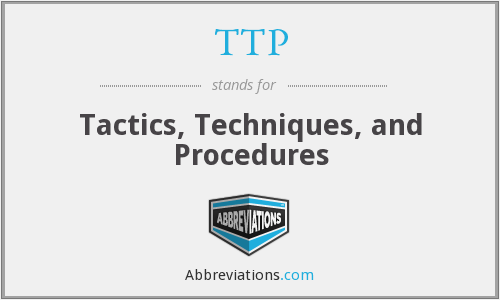 TTP - Tactics, Techniques, and Procedures