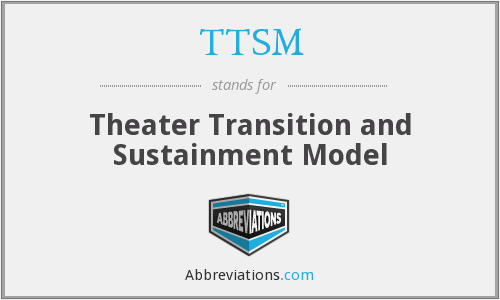 TTSM - Theater Transition and Sustainment Model