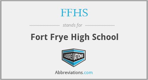 FFHS - Fort Frye High School