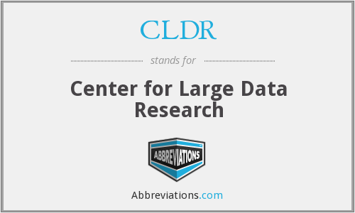 What does CLDR stand for?