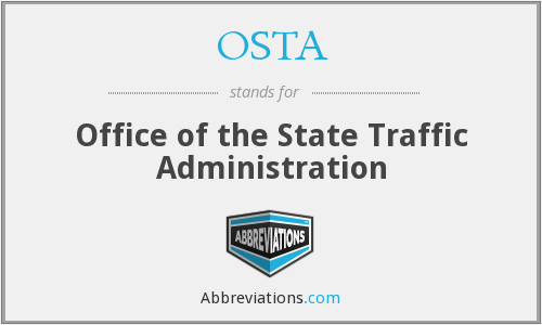 OSTA - Office of the State Traffic Administration