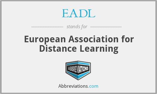 EADL - European Association for Distance Learning
