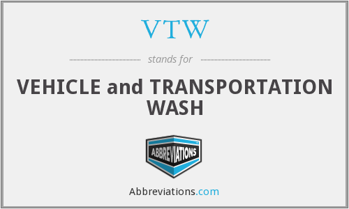 VTW - VEHICLE and TRANSPORTATION WASH