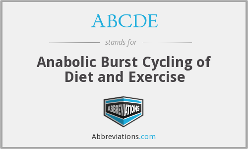 ABCDE - Anabolic Burst Cycling of Diet and Exercise