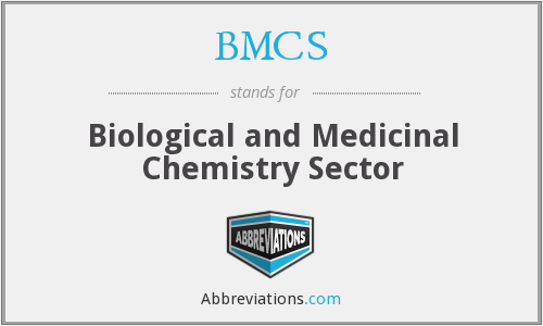 BMCS - Biological and Medicinal Chemistry Sector